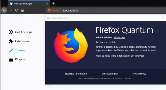 Firefox 66.0.4发布:修复用户无法使用扩展问题
